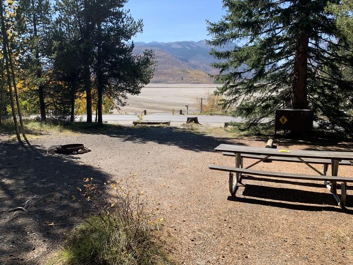 A photo of Site 32 of Loop Loop 2 at Lizard Creek Campground with Picnic Table, Fire Pit, Shade, Food Storage, Waterfront