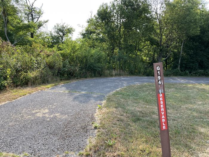 A photo of Site G194 of Loop G Loop at Loft Mountain Campground with No Amenities Shown
