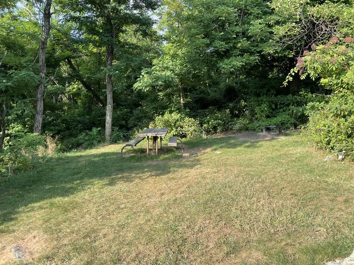 A photo of Site G196 of Loop G Loop at Loft Mountain Campground with Picnic Table, Fire Pit