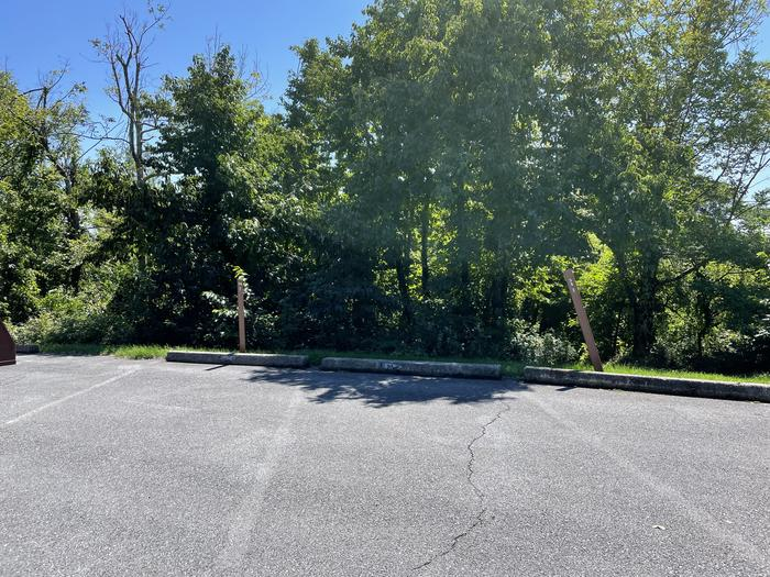A photo of parking for Site 036 of Loop Lower Loop at Loft Mountain Campground