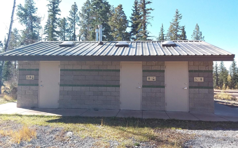 Apache Trout Campground flush toilets