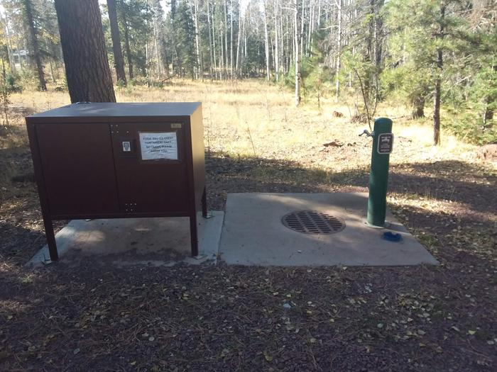 Apache Trout Campground water and bear box