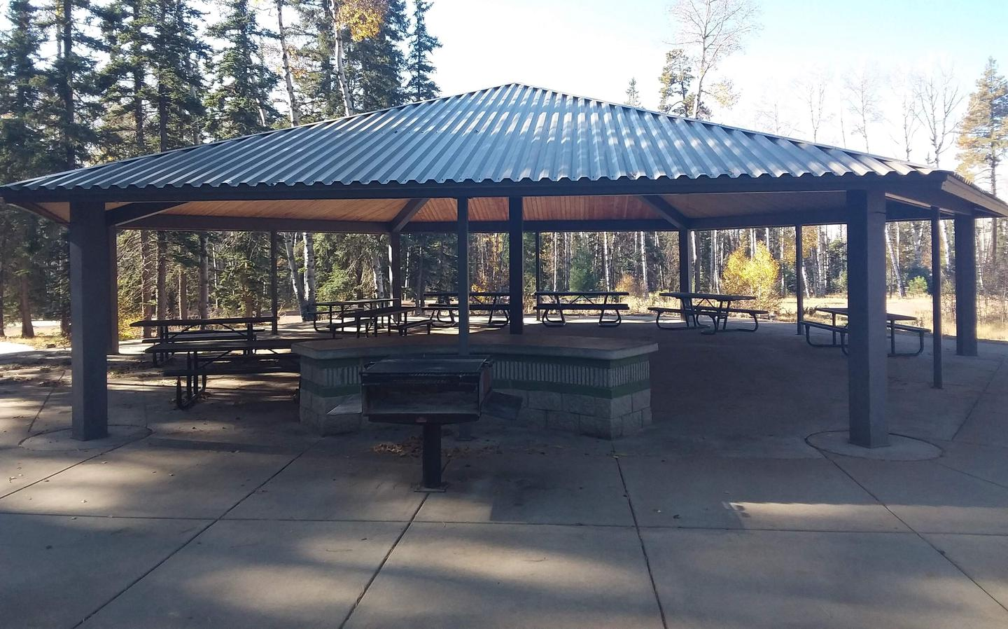 Apache Trout Campground group site ramada