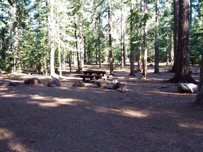 View of site 20 at Grayling Campground