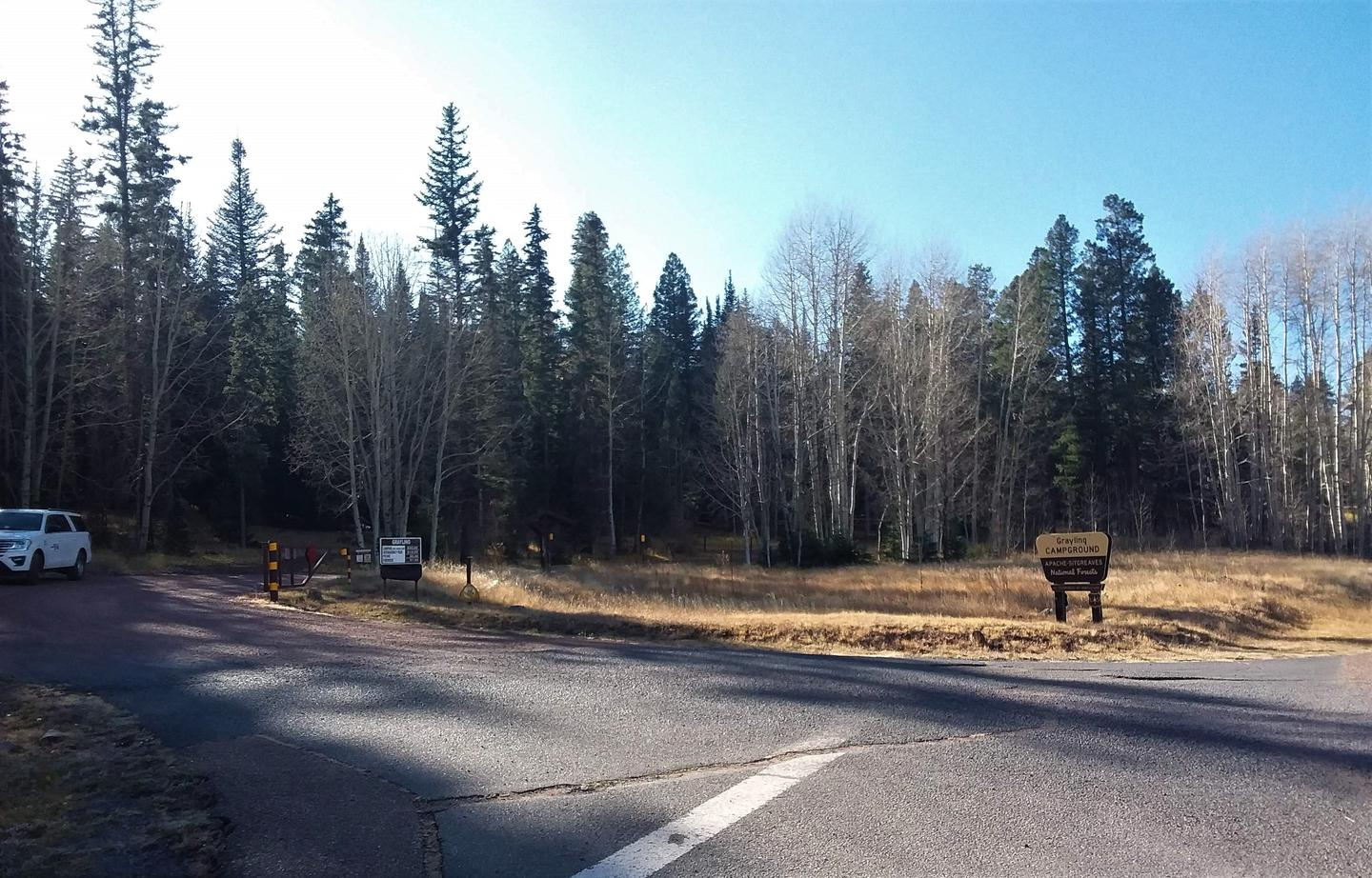 Grayling Campground Entrance and Sign