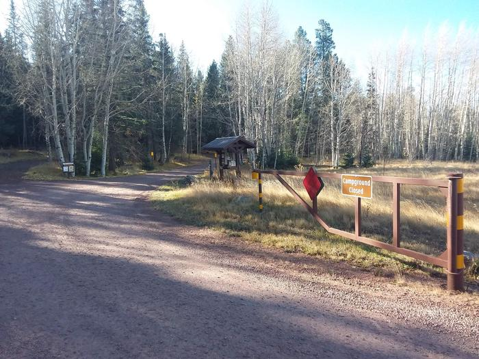 Grayling Campground Entrance Gate and Information Kiosk