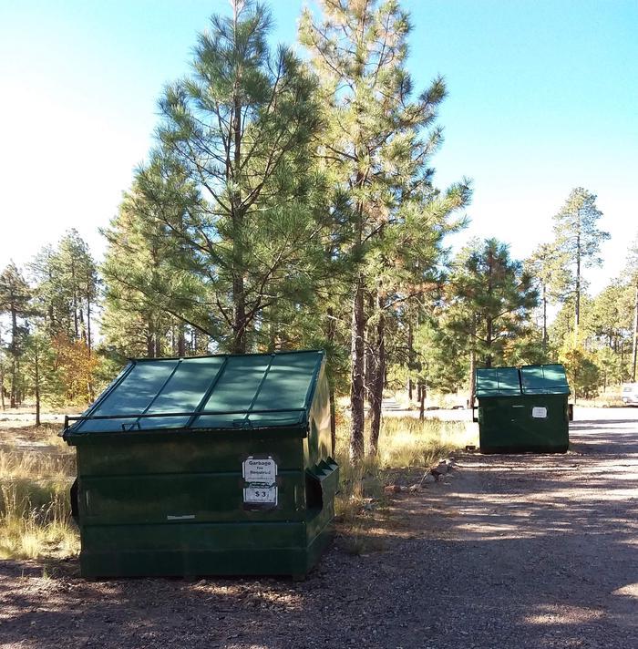 Site dumpsters.
