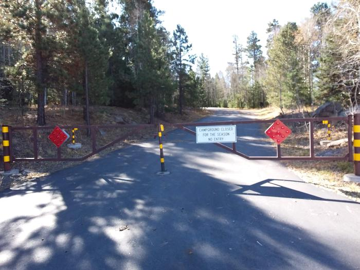 Rainbow Campground Entrance Gate