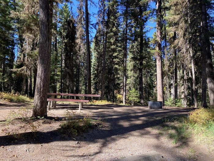 A photo of Site 012 of Loop B - LARC at HOLLAND LAKE CAMPGROUND with Picnic Table, Fire Pit