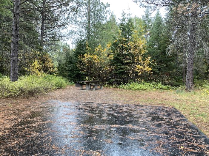 A photo of Site 033 of Loop POND at SWAN LAKE CAMPGROUND with Picnic Table, Fire Pit