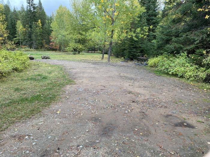 A photo of Site 017 of Loop POND at SWAN LAKE CAMPGROUND with Picnic Table, Fire Pit