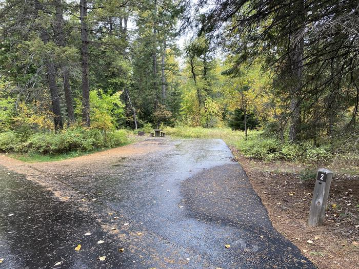 A photo of Site 002 of Loop BIRC at SWAN LAKE CAMPGROUND with Picnic Table, Fire Pit