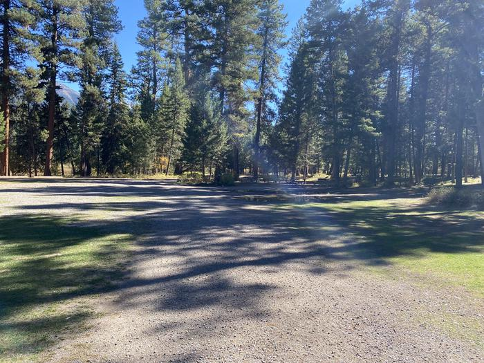 A photo of Site GRP1 of Loop A - Group at HOLLAND LAKE CAMPGROUND with Picnic Table, Fire Pit