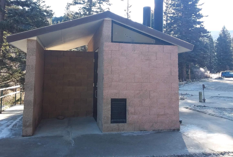 Campground lavatory.Santa Barbara restroom.