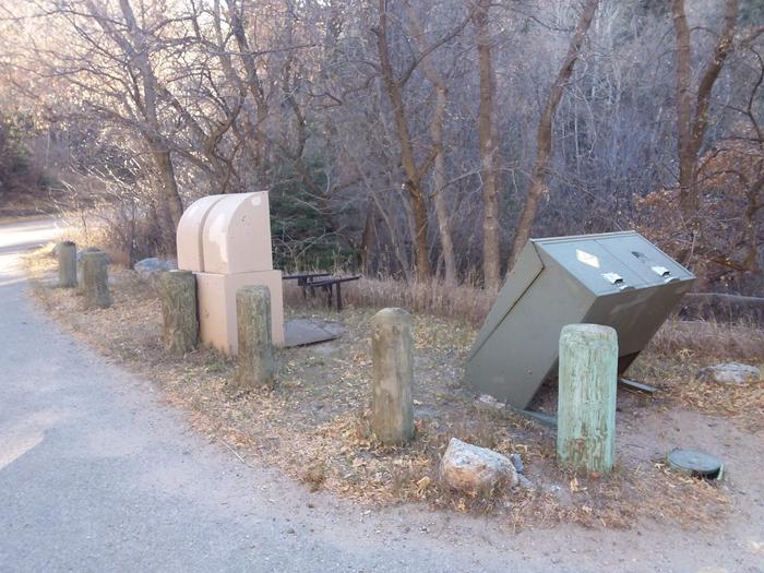 On-site trash bins.