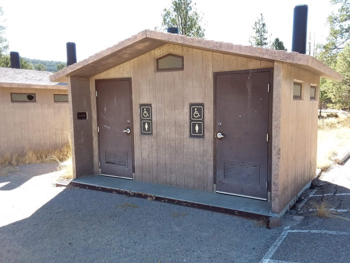 This is a picture of the restrooms at Coal Mine CGRestrooms at Coal Mine Campground