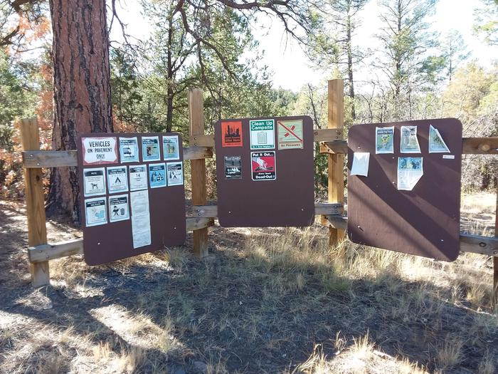 Information board at Coal mine campground