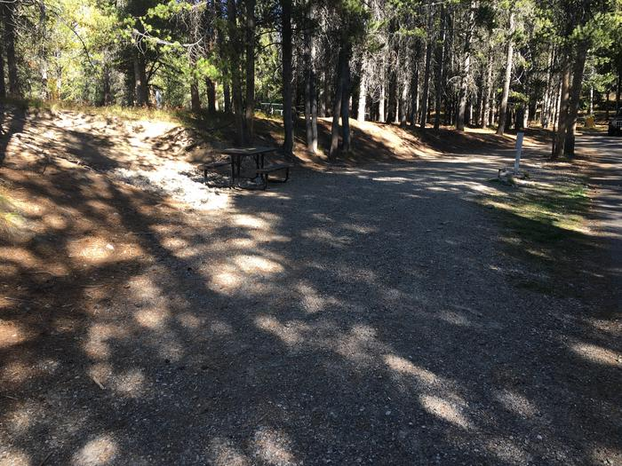 A photo of Site 1 of Loop A at Colter Bay RV Park with Full Hookup