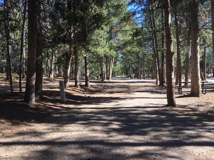 A photo of Site 11 of Loop A at Colter Bay RV Park with Full Hookup