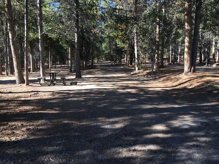A photo of Site 6 of Loop A at Colter Bay RV Park with Full Hookup
