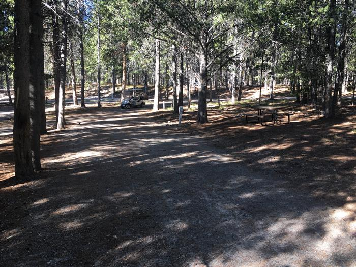 A photo of Site 2 of Loop A at Colter Bay RV Park with Full Hookup