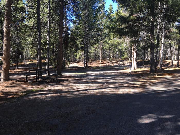 A photo of Site 7 of Loop A at Colter Bay RV Park with Full Hookup