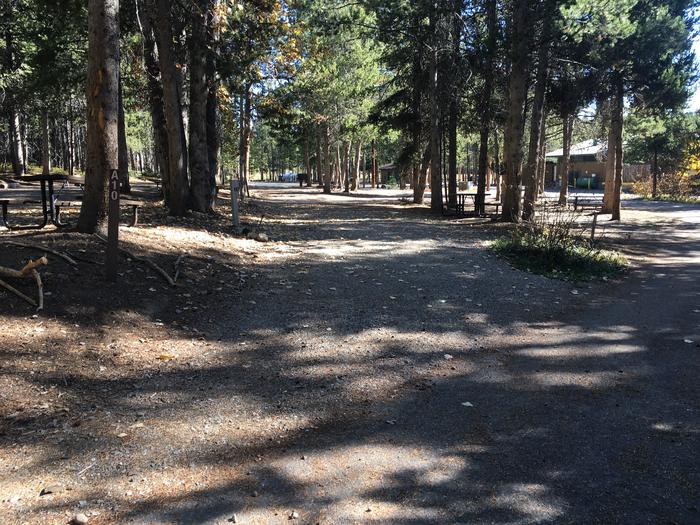 A photo of Site 10 of Loop A at Colter Bay RV Park with Full Hookup