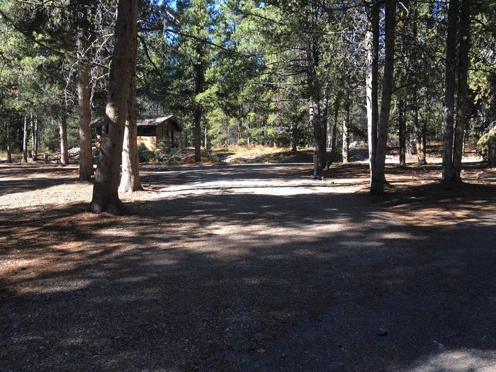 A photo of Site 12 of Loop A at Colter Bay RV Park with Full Hookup