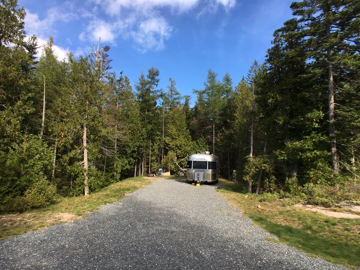 A photo of Site A07 While OccupiedA photo of Site A07 of Loop A-Loop at Schoodic Woods Campground with Picnic Table, Electricity Hookup, Fire Pit