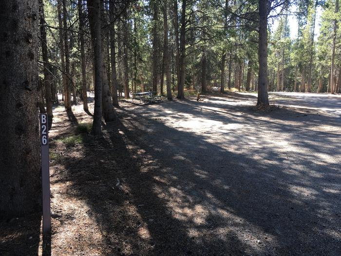 A photo of Site 26 of Loop B at Colter Bay RV Park with Full Hookup