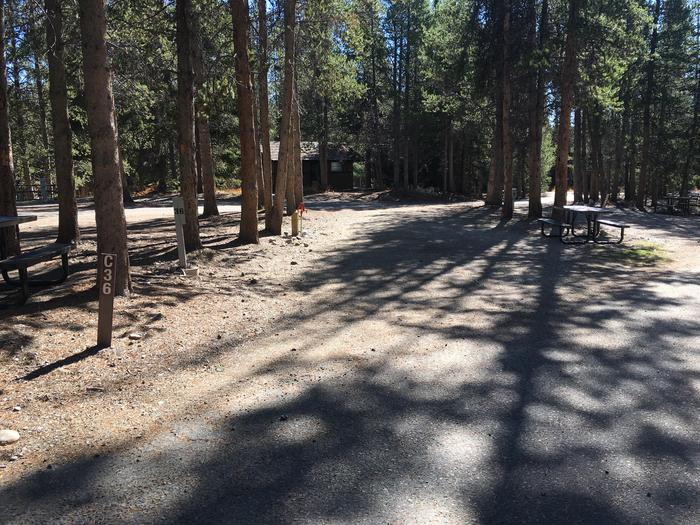 A photo of Site 36 of Loop C at Colter Bay RV Park with Full Hookup