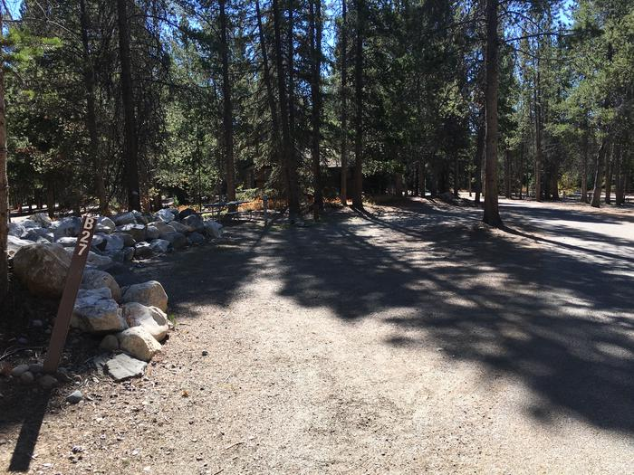 A photo of Site 27 of Loop B at Colter Bay RV Park with Full Hookup