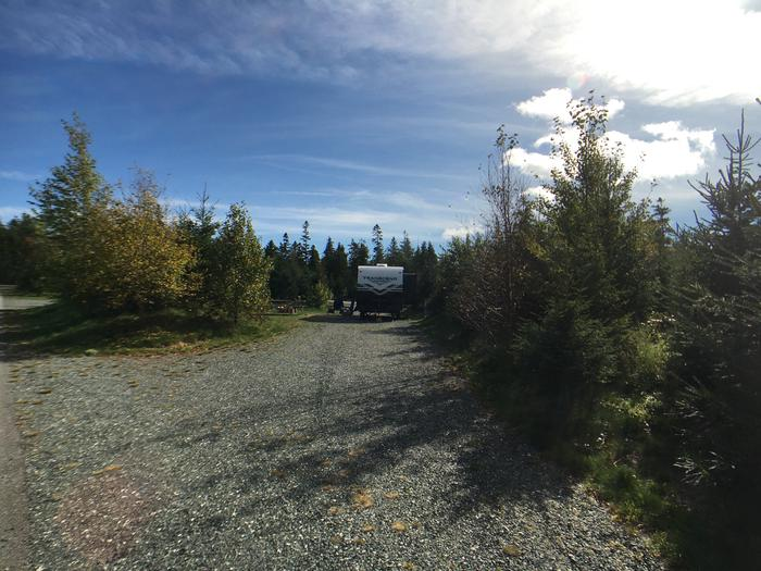 A photo of Site B22 while OccupiedA photo of Site B22 of Loop B-Loop at Schoodic Woods Campground with Picnic Table, Electricity Hookup, Fire Pit, Water Hookup