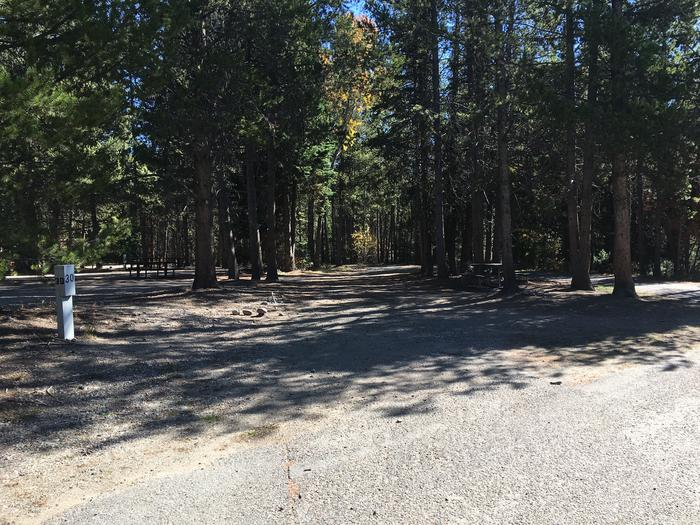 A photo of Site 30 of Loop B at Colter Bay RV Park with Full Hookup