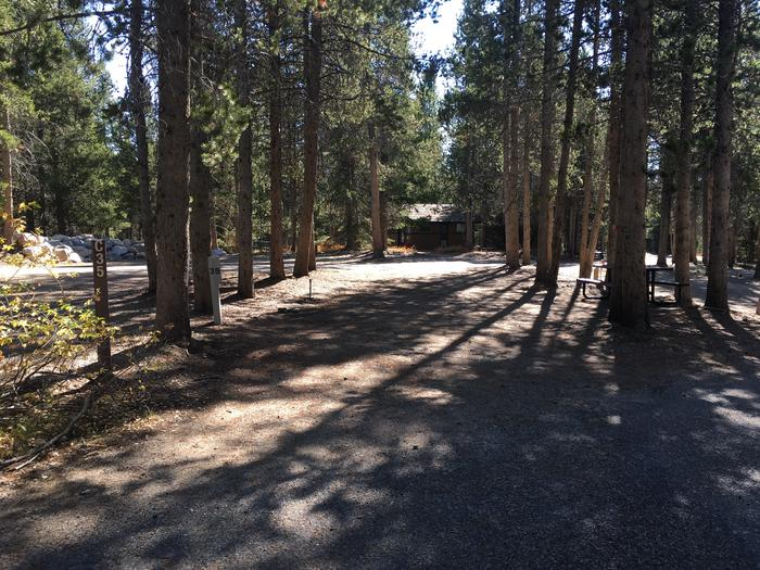 A photo of Site 35 of Loop C at Colter Bay RV Park with Full Hookup