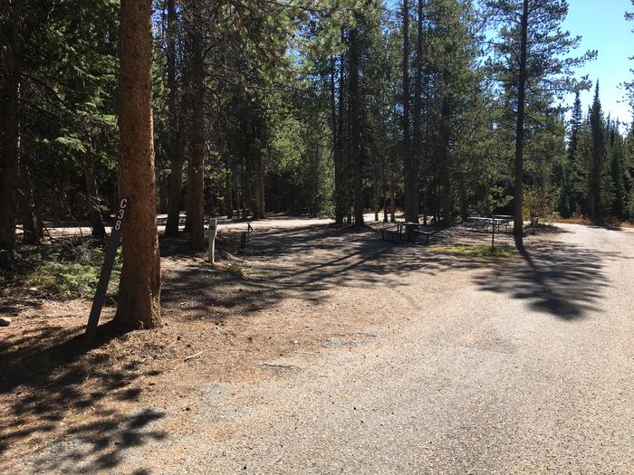 A photo of Site 38 of Loop C at Colter Bay RV Park with Full Hookup