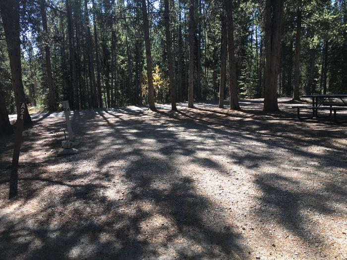 A photo of Site 24 of Loop A at Colter Bay RV Park with Full Hookup