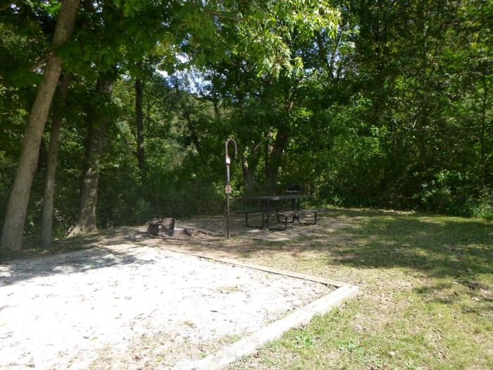 Tyler Bend Main Loop #12-7Site #12, is a drive through site with a short walk to picnic table and fire ring. Tent pad is 15' x 15'.
