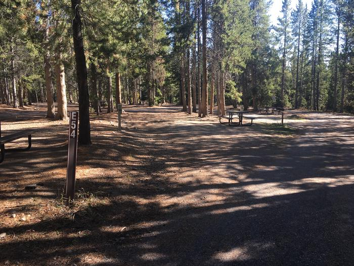 A photo of Site 54 of Loop E at Colter Bay RV Park with Full Hookup