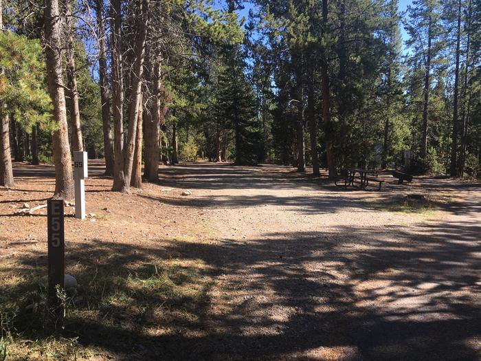 A photo of Site 55 of Loop E at Colter Bay RV Park with Full Hookup