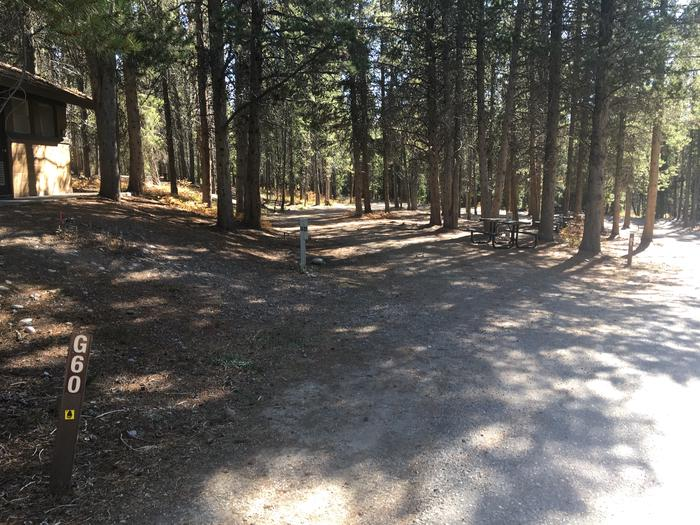 A photo of Site 60 of Loop G at Colter Bay RV Park with Full Hookup
