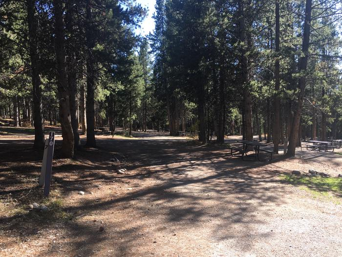 A photo of Site 70 of Loop I at Colter Bay RV Park with Full Hookup