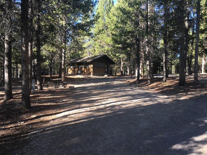 A photo of Site 91 of Loop L at Colter Bay RV Park with Full Hookup