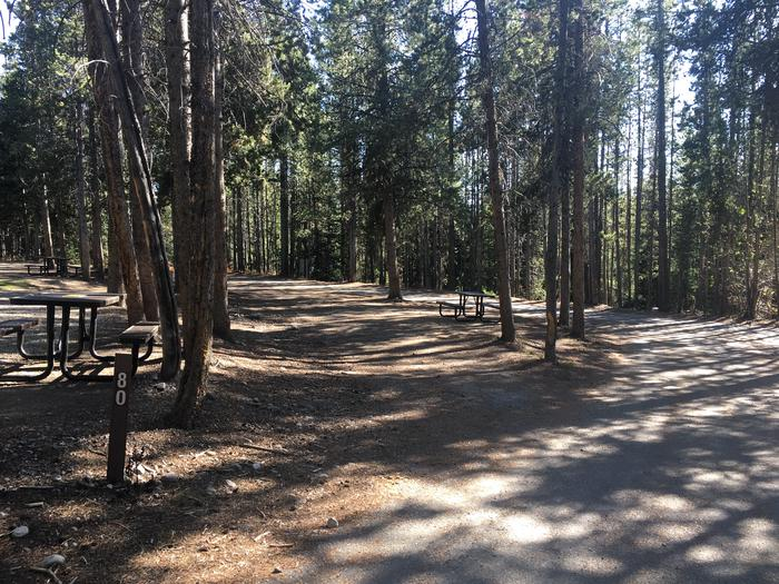 A photo of Site 80 of Loop J at Colter Bay RV Park with Full Hookup