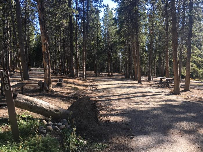 A photo of Site 86 of Loop K at Colter Bay RV Park with Full Hookup