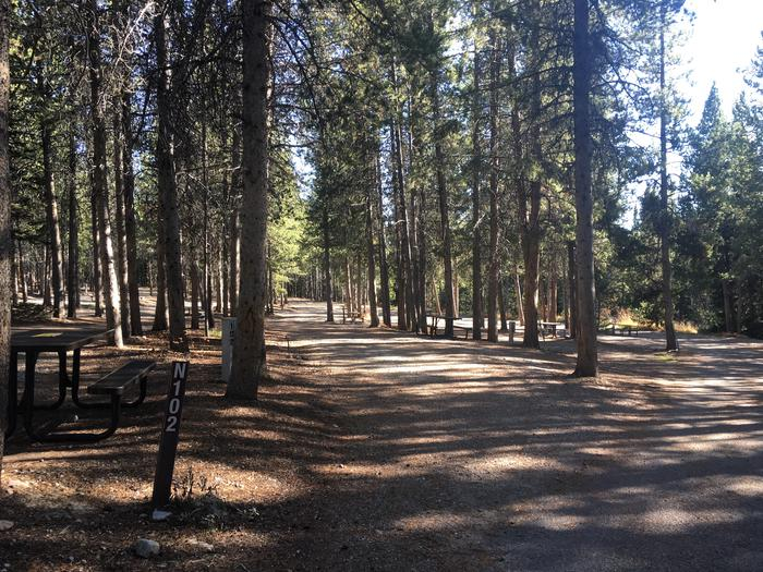 A photo of Site 102 of Loop N at Colter Bay RV Park with Full Hookup