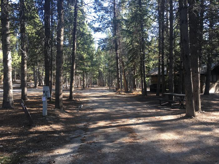 A photo of Site 97 of Loop M at Colter Bay RV Park with Full Hookup