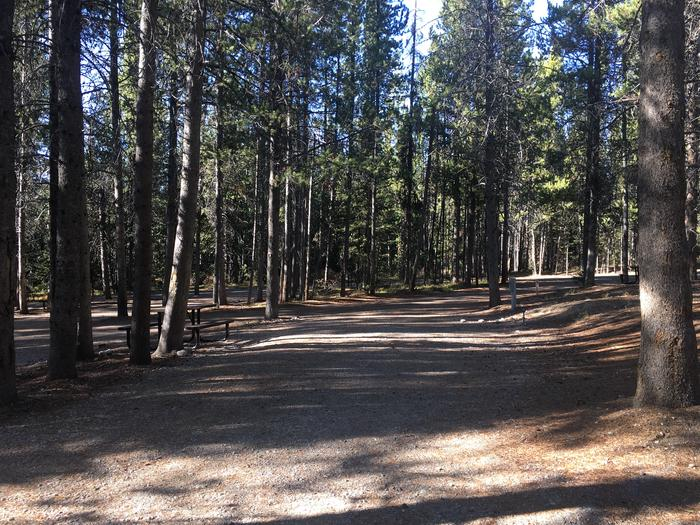 A photo of Site 106 of Loop O at Colter Bay RV Park with Full Hookup