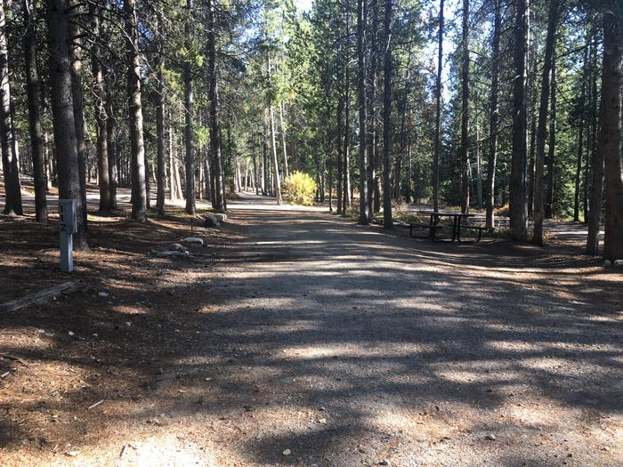 A photo of Site 112 of Loop P at Colter Bay RV Park with Full Hookup