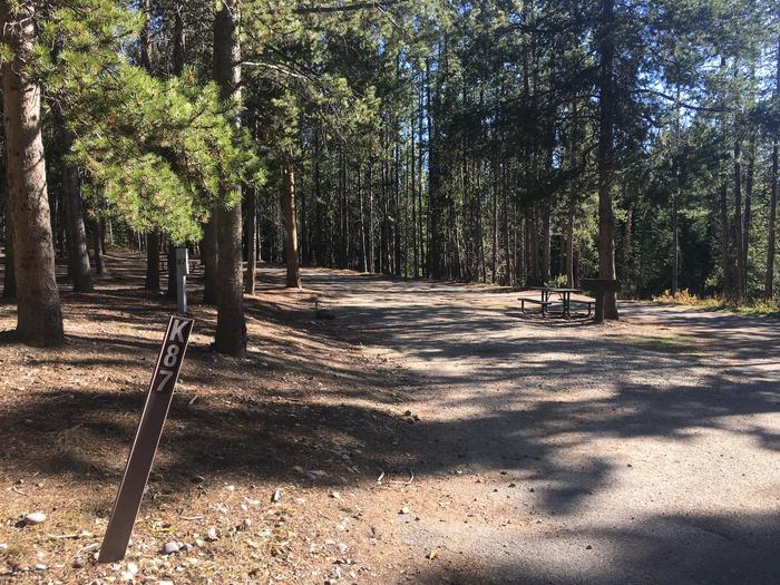 A photo of Site 87 of Loop K at Colter Bay RV Park with Full Hookup